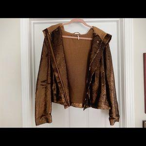 Sequin Free People Jacket